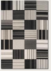 Couristan Afuera Patchwork and Onyx/Ivory 5038/9138