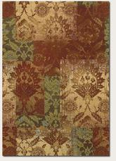 Couristan Alameda Ethereal Garden and Paprika/Beige 5794/7491