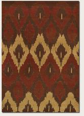 Couristan Alameda Cultural Weave and Maroon/Beige 5992/0031