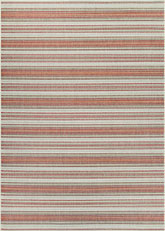Couristan Monaco Marbella and Coral/Ivory/Pewter 6041/3151