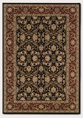Couristan Himalaya Isfahan and Ebony/Persian Red 6259/2000