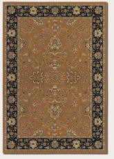 Couristan Izmir Floral Bijar and Gold 7016/4000