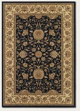 Couristan Izmir Floral Isfahan and Black 7088/1000