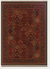 Couristan Kashimar Panel Kerman and Rose Scarlet 7675/1857