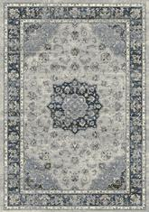 Dynamic Rugs Ancient Garden 57559-9686 Silver and Blue