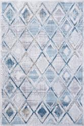 Dynamic Rugs Mosaic 1666-115 Cream Grey and Blue