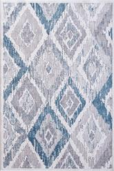 Dynamic Rugs Mosaic 1669-115 Cream Grey and Blue