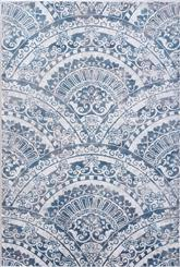 Dynamic Rugs Mosaic 1670-115 Cream Grey and Blue