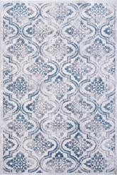 Dynamic Rugs Mosaic 1672-115 Cream Grey and Blue