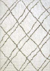 Dynamic Rugs Nordic 7431-100 White and Silver