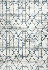 Dynamic Rugs Troya 4604105 Ivory and Blue