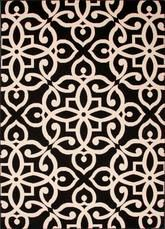 Jaipur Bloom Scrolled Black/Taupe BLO12