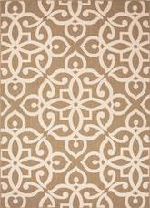 Jaipur Bloom Scrolled Brown/Taupe BLO14