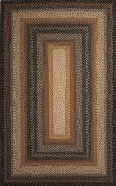 Jaipur Cotton Braided Rugs Cocoa Bean Taupe/Black CBR02