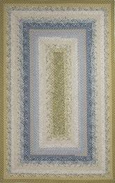 Jaipur Cotton Braided Rugs Seascape Blue/Green CBR05
