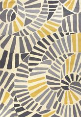 Jaipur Colours Whirligig Gray/Yellow CO12