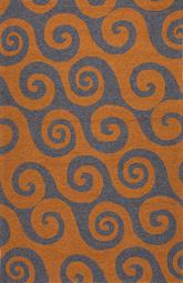 Jaipur Coastal Lagoon Wave Hello Orange/Gray COL31