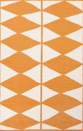 Jaipur En Casa By Luli Sanchez Flat-weave Harlequin Orange/White LSF24