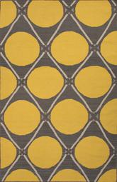 Jaipur En Casa By Luli Sanchez Flat-weave Grid Dot Yellow/Gray LSF28