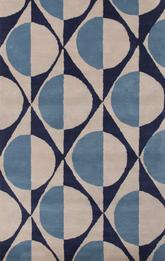 Jaipur En Casa By Luli Sanchez Tufted Half Dot Blue LST14