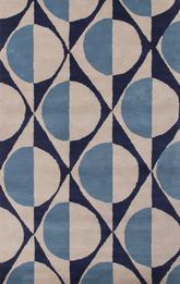 Jaipur En Casa By Luli Sanchez Tufted Painterly Blue White