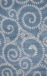 Jaipur En Casa By Luli Sanchez Tufted Tendrils Blue/Gray LST37