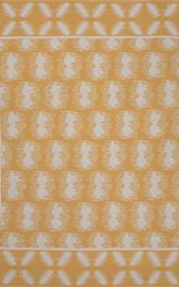 Jaipur Traditions Made Modern Cotton Flat Weave Clouds Yellow/White MCF07