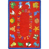 Joy Carpets Kid Essentials ABC Animals Red