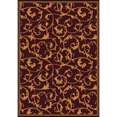 Joy Carpets Any Day Matinee Acanthus Burgundy