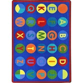 Joy Carpets Kid Essentials Alpha Dots Multi