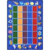 Joy Carpets Kid Essentials Alphabet Phonics Blue