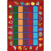 Joy Carpets Kid Essentials Alphabet Phonics Red
