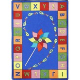 Joy Carpets Kid Essentials Alphabet Pinwheel Multi