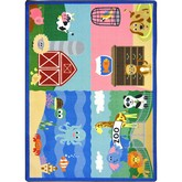 Joy Carpets Kid Essentials Animals All Around Multi