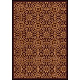 Joy Carpets Any Day Matinee Antique Scroll Burgundy