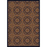 Joy Carpets Any Day Matinee Antique Scroll Navy