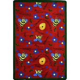 Joy Carpets Kid Essentials Bee Attitudes Red