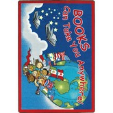 Joy Carpets Kid Essentials Books Can Take You Anywhere Sky Blue