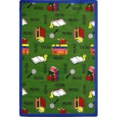 Joy Carpets Kid Essentials Bookworm Green