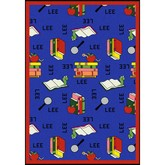 Joy Carpets Kid Essentials Bookworm Spanish Blue