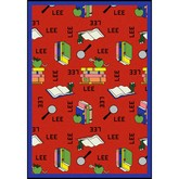 Joy Carpets Kid Essentials Bookworm Spanish Red