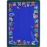 Joy Carpets Kid Essentials Choo Choo Letters Blue