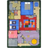 Joy Carpets Kid Essentials Creative Play House Multi