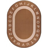 Joy Carpets Kid Essentials Endless Alphabet Mocha