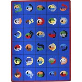 Joy Carpets Kid Essentials Faces Places Multi