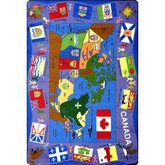 Joy Carpets Kid Essentials Flags of Canada Multi
