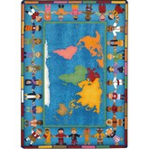 Joy Carpets Kid Essentials Hands Around the World Multi