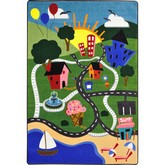 Joy Carpets Kid Essentials Happy Town Multi
