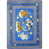Joy Carpets Kid Essentials Hey Diddle Diddle Blue
