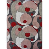 Joy Carpets Kid Essentials Jazzy Red and Gray